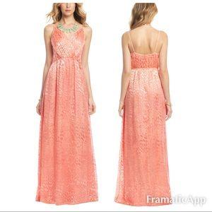 . Yumi Kim tropical sunset maxi dress coral 123